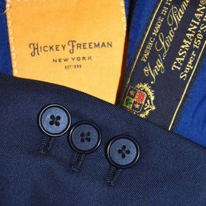 48R Hickey Freeman Loro Piana CURRENT Navy blazer